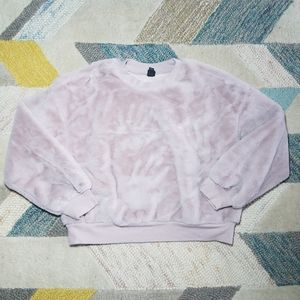 Wild Fable Cropped Faux Fur Sweatshirt LARGE